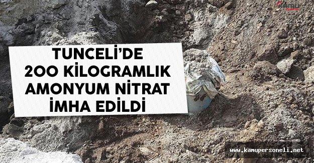 Tunceli'de 200 Kilogram El Yapımı Patlayıcı İmha Edildi