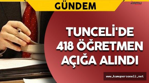 Tunceli'de 418 Öğretmen Görevden Uzaklaştırıldı