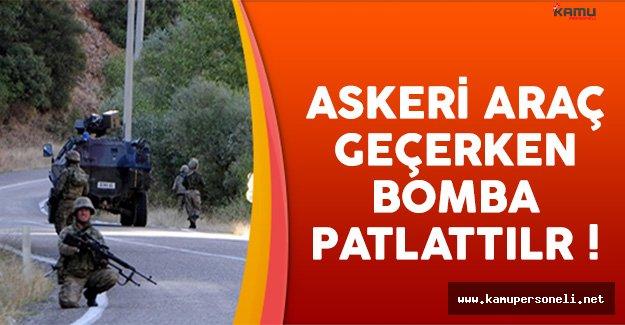 Tunceli'de Askeri Araca EYP'li Saldırı Düzenlendi !