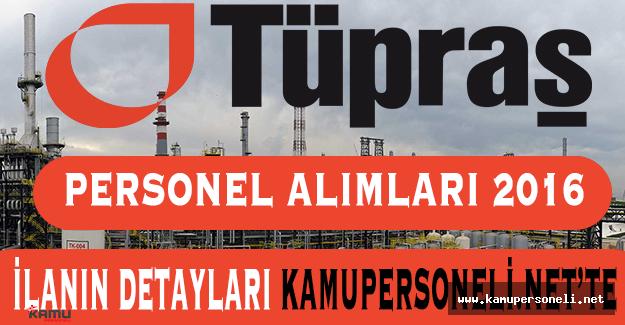 Tüpraş Personel Alımları 2016