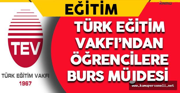 Türk Eğitim Vakfı'ndan Öğrencilere Burs Müjdesi