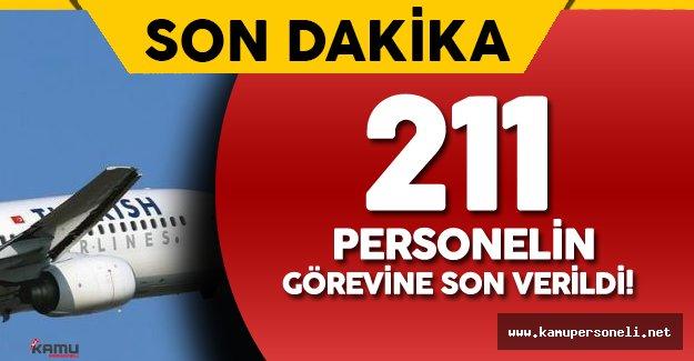 Türk Hava Yolları (THY) 211 Personelin Görevine Son Verdi