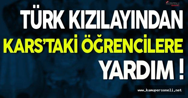 Türk Kızılayından Kars'taki Öğrencilere Yardım