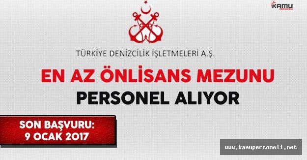 Türkiye Denizcilik İşletmeleri (TDİ) En Az Önlisans Mezunu İşçi Alıyor