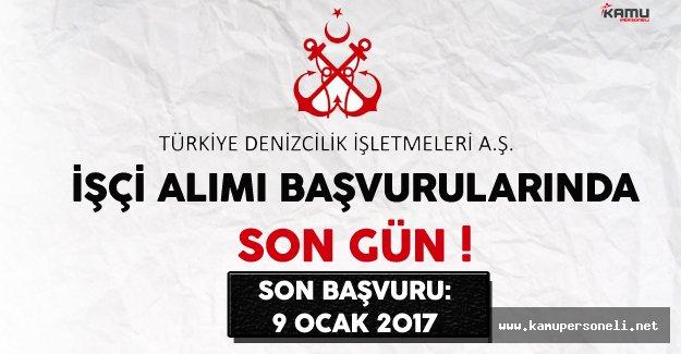Türkiye Denizcilik İşletmeleri (TDİ) İşçi Alımı Başvurularında Son Gün !