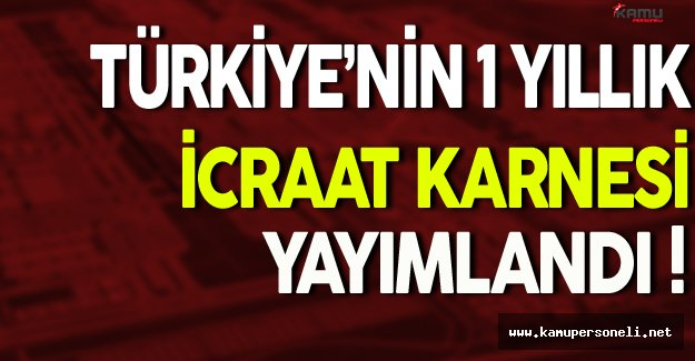Türkiye'nin 1 Yıllık İcraat Karnesi Yayımlandı