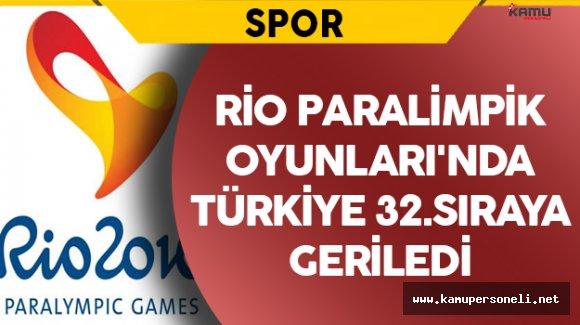 Türkiye Rio Paralimpik Oyunları'nda 32.Sıraya Geriledi