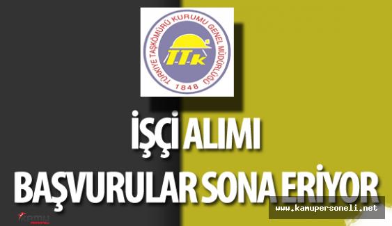 Türkiye Taşkömürü Genel Müdürlüğü İşçi Alımı Başvurular Sona Eriyor