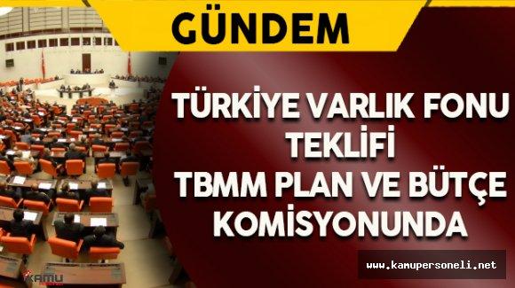 Türkiye Varlık Fonu Teklifi TBMM Plan ve Bütçe Komisyonunda
