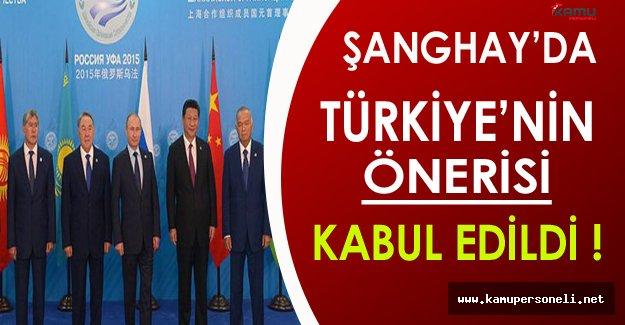 Türkiye'ye Şanghay'da İlk Görev ( Verilen Öneri Kabul Edildi )