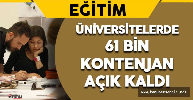Üniversitelerde 61 Bin Boş Kontenjan Kaldı