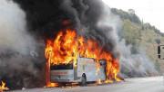 Son Dakika ! TEM'de Yolcu Otobüsü Alev Alev Yandı