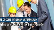 İş Gücüne Katılımda Veterinerlik, İstihdamda Mühendislik Birinci Sırada