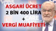 Karamollaoğlu'ndan asgari ücret teklifi