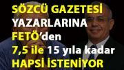 Sözcü Gazetesi yazarlarına FETÖ'ye yardım etmek suçundan iddianame düzenlendi