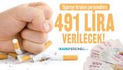 Sigarayı bırakan personellere 491 lira verilecek!