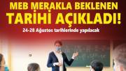 MEB öğretmenlerin mesleki program tarihlerini açıkladı!
