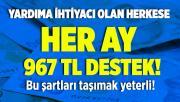 Vakıflar Genel Müdürlüğü yardıma muhtaç kişilere her ay 967 TL yardım yapıyor! Bu şartları taşıyan herkes yardımdan yararlanabilir!