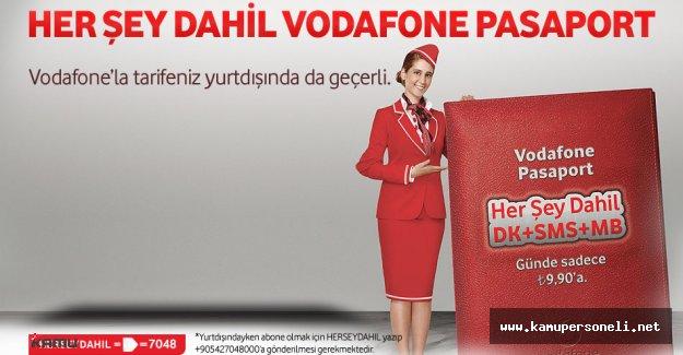 Vodafone Red Abonelerine Özel ' Her Şey Dahil Pasaport'