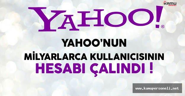 Yahoo'nun Milyarlarca Kullanıcısının Hesapları Çalındı