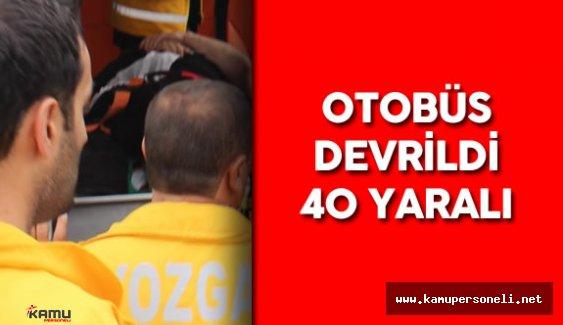 Yozgat'ta Trafik Kazası  : 40 Kişi Yaralandı