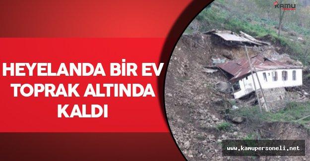 Zonguldak'ta Meydana Gelen Heyelanda Bir Ev Toprak Altında Kaldı