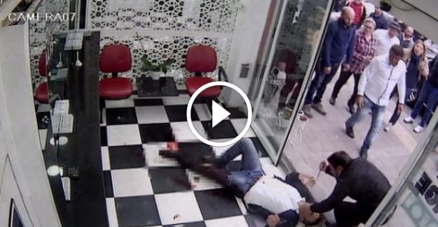 İstanbul'da dehşet anları ! (+18) Yüzüne bıçakla defalarca...