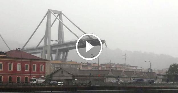 İtalya'da Köprü Çöktü Onlarca Ölü Var