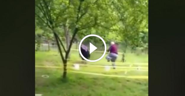 Bahçelerinde Survivor Oynayan 72 Yaşındaki Dede ve Eşi