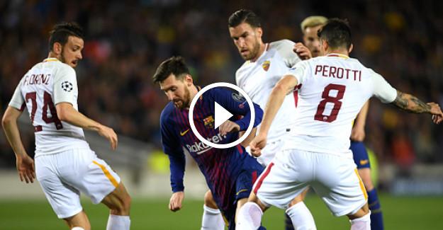 Roma- Barcelona Şampiyonlar Ligi Maçı Büyük Heyecana Sahne Olacak