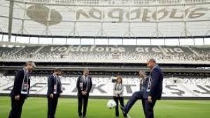 Vodafone Arena'nın başlama vuruşunu Erdoğan ve Davutoğlu yaptı