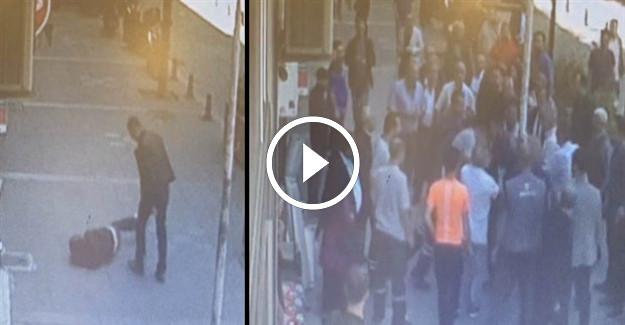 İstanbul Kağıthane'de Karısını Sokak Ortasında Döven Eşe Linç Girişimi