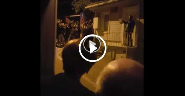 MHP'liler Meral Akşener'i Evinin Önünde Protesto Etti! Şok Görüntüler